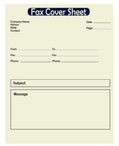 Confidential Fax Cover Sheet Template PDF