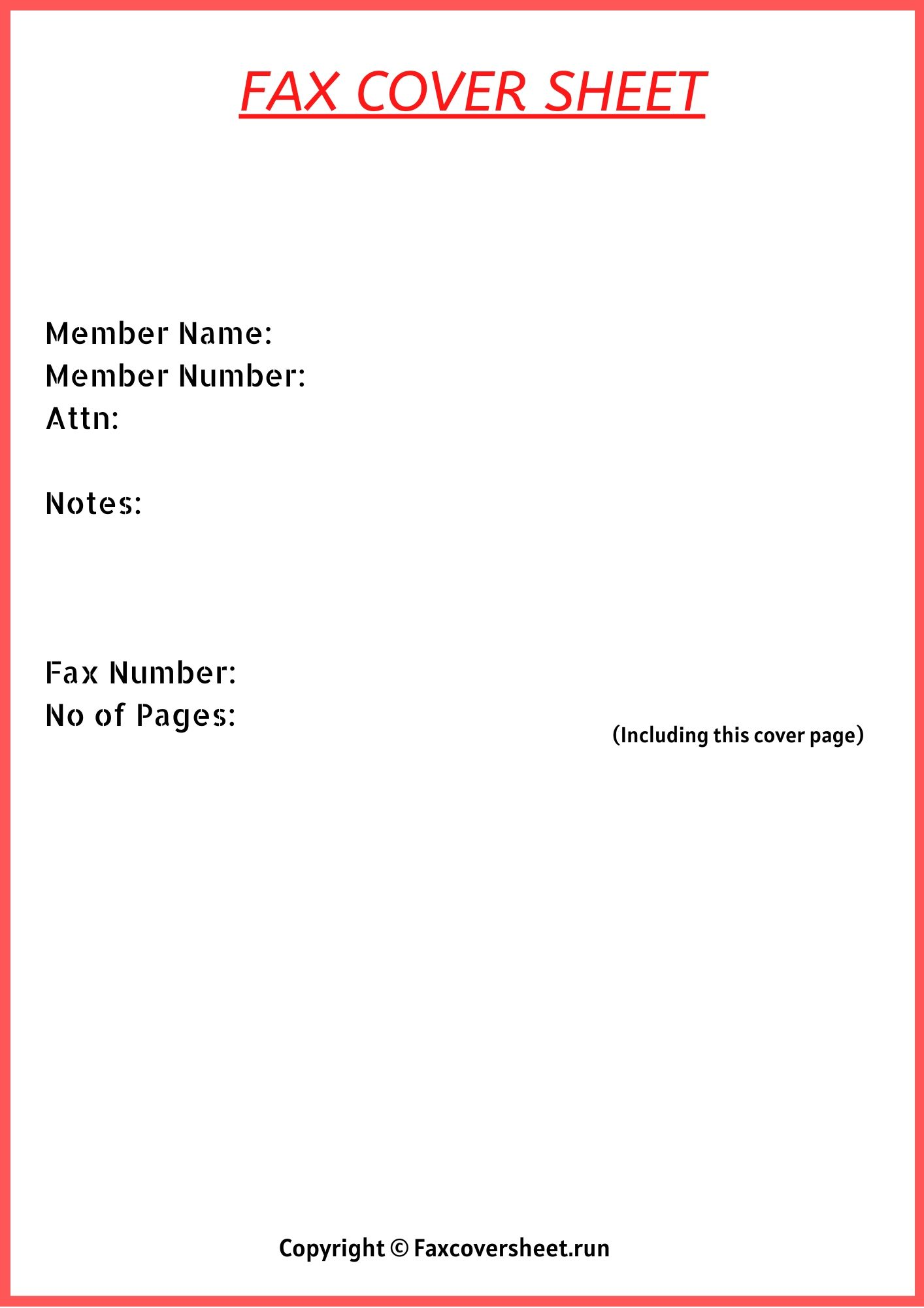 Generic Fax Cover Sheet Templates