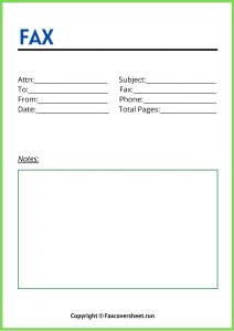 Generic Fax Cover Sheet Printable Templates