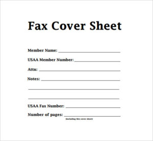 Generic Fax Cover Sheets