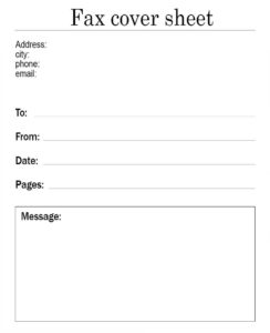 Google Docs Fax Cover Sheet Template